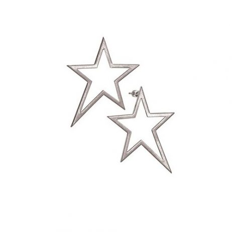 Hot Tomato Jewellery A Star is Born Worn Silver Stud Earrings
