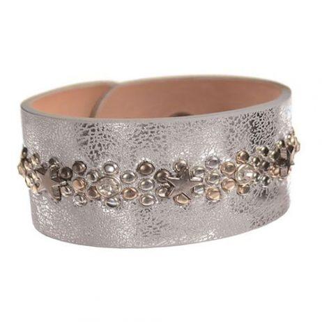 Hot Tomato Jewellery Distressed Silver Star Bracelet