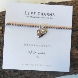 Life Charms Especially For You Rose Gold Heart Bracelet