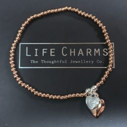 Life Charms Especially For You Rose Gold Heart Bracelet efyenc002heart
