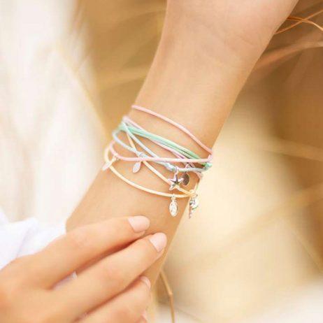 Joma Jewellery Tiny Treasures Starfish Adjustable Pale Blue Bracelet 2981