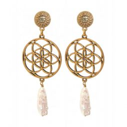 Hultquist Jewellery Donya Earrings Gold Plated 1523G
