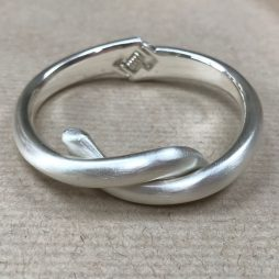 Gracee Jewellery Matte Silver Bangle