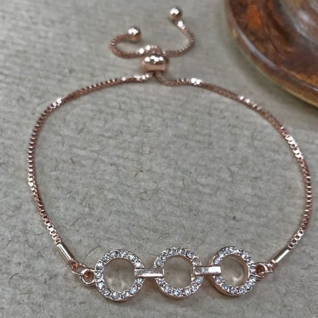 Gracee Jewellery Rose Gold Crystal Circles Bracelet