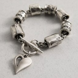 Danon Jewellery Simply You Chunky Heart Bracelet Silver B3897S