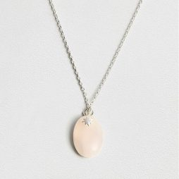 Estella Bartlett Rose Quartz Pendant Necklace EB3199C