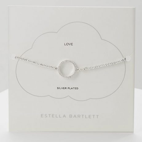 Estella Bartlett Circle Louise Bracelet Silver Plated EB3358C