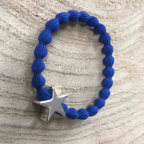 Lupe Star Charm 2 in 1 Hairband and Bracelet Blue Silver