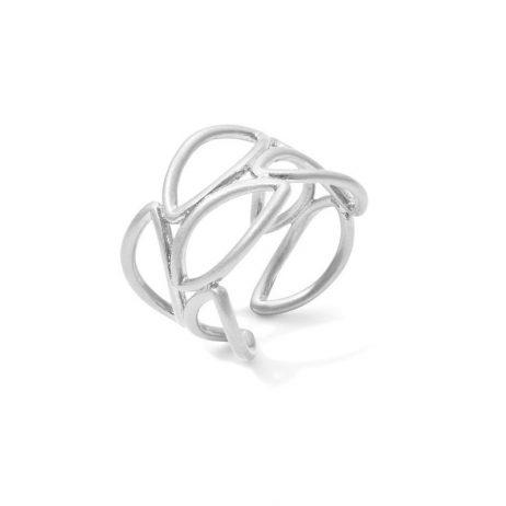Sence Copenhagen Matt Silver Adjustable Birch Ring