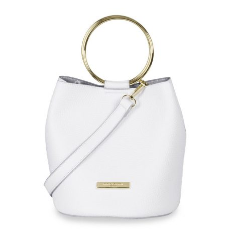 Katie Loxton Suki Bucket Bag - White KLB462