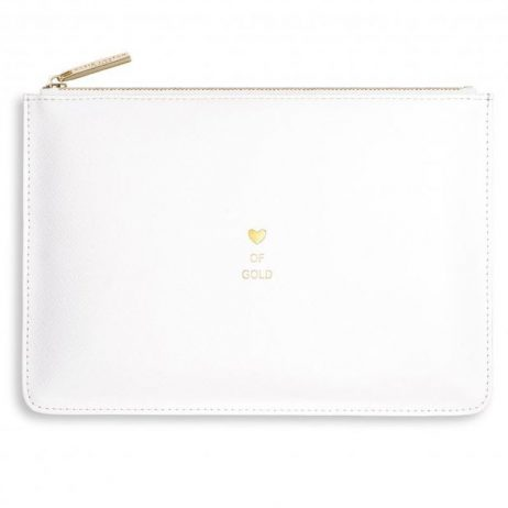 Katie Loxton Perfect Pouch Icon Heart Of Gold White - Limited Edition KLB505