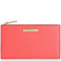 Katie Loxton Alise Soft Pebble Fold Out Purse Coral KLB530