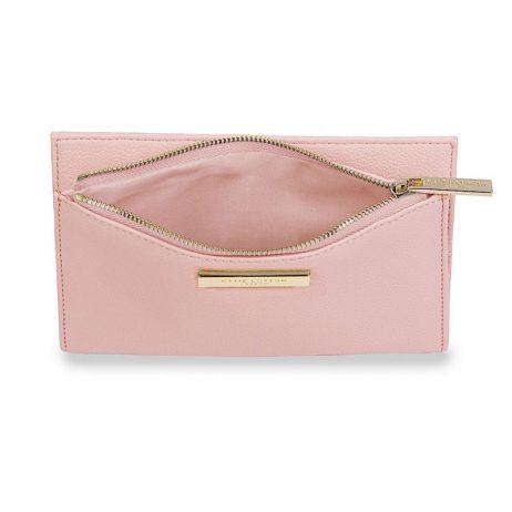 Katie Loxton Alise Soft Pebble Fold Out Purse Blush Pink KLB531