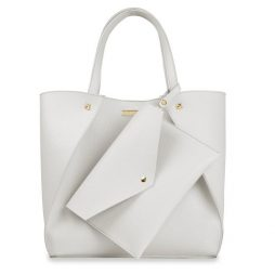 Katie Loxton Lucie Overlapping Tote Bag - Stone KLB542