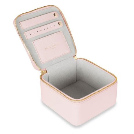 Katie Loxton Square Jewellery Box Girly Goodies Pale Pink KLB567