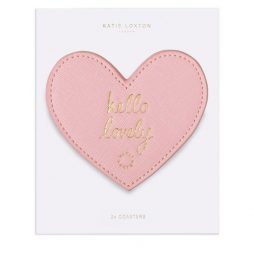 Katie Loxton Pink Heart Coasters Hello Lovely KLHA035