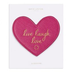 Katie Loxton Heart Coasters Live Laugh Love KLHA037