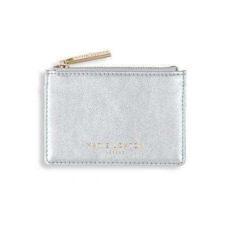 Katie Loxton Alexa Metallic Silver Card Holder KLB511
