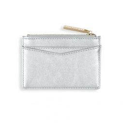 Katie Loxton Alexa Metallic Silver Card Holder KLB511