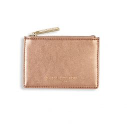 Katie Loxton Alexa Metallic Bronze Card Holder - Limited Edition KLB513