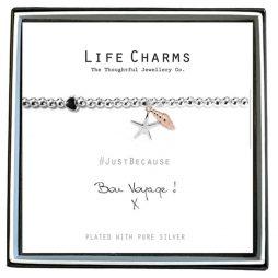 Life Charms Bon Voyage Silver Bracelet