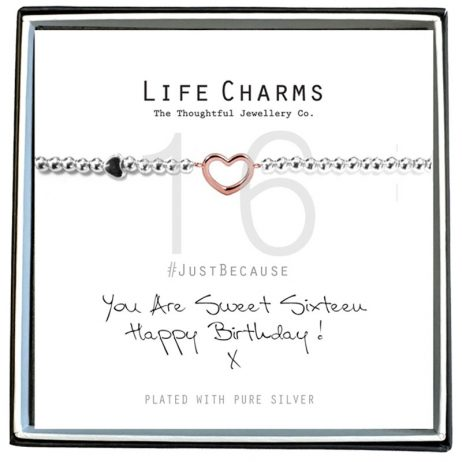 Life Charms Happy 16th Birthday Heart Bracelet