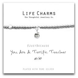 Life Charms Terrific Teacher Silver Bracelet LC063BW