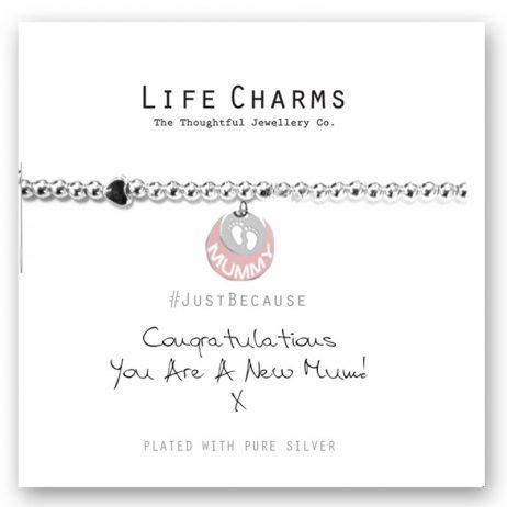 Life Charm New Mum Silver Bracelet