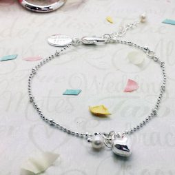 Life Charms Will You Be My Bridesmaid Silver Plated Heart Bracelet LCW07SHB