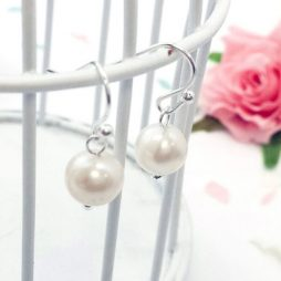 Life Charm Freshwater Pearl Hook Earrings