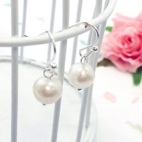 Life Charm Freshwater Pearl Hook Earrings