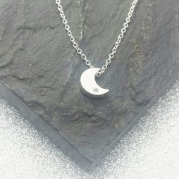 Life Charms I Love You To The Moon And Back Silver Necklace LJN0005W