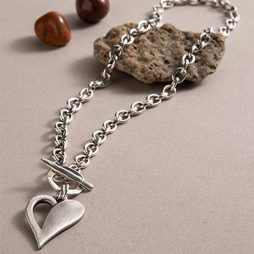 Danon Jewellery Simply You T-bar Heart Necklace Silver N5272S
