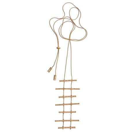 Hot Tomato Jewellery Matt Gold Baton Ladder Necklace - Adjustable