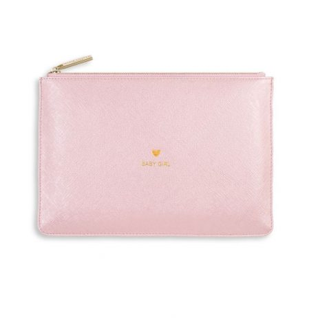 Katie Loxton Perfect Pouch Baby Girl - Metallic Pink KLB492