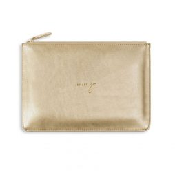 Katie Loxton Perfect Pouch Jet Set Go - Gold KLB497