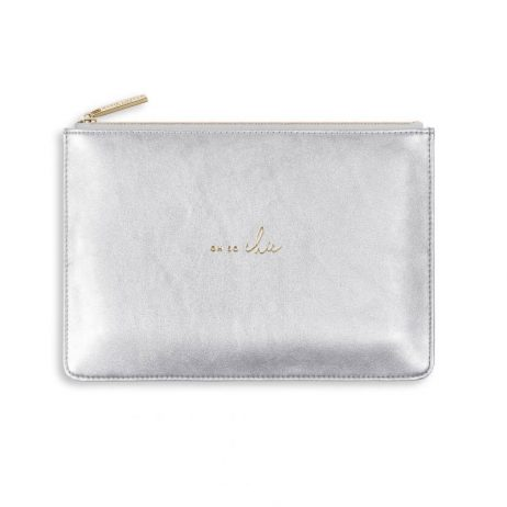 Katie Loxton Perfect Pouch Oh So Chic - Silver KLB499