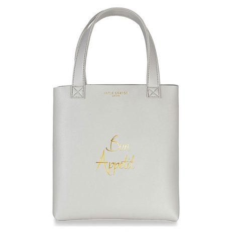Katie Loxton Lunch Bag Bon Appetit Grey KLB536