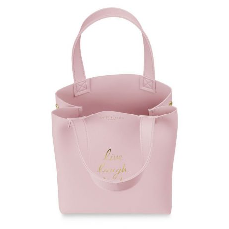 Katie Loxton Lunch Bag Live Laugh Lunch! Pink KLB537