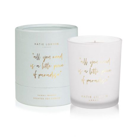 Katie Loxton Words To Live By Candle All You Need Is A Little Piece Of Paradise KLC107