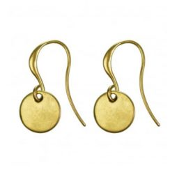 Hultquist Classic Gold Plated Coin Hook Earrings