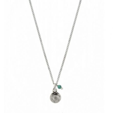 Hultquist Jewellery Turquoise Coin Necklace 04380S-T