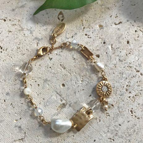 Hultquist Jewellery Dana Rays Of Sun Gold Bracelet 1513G