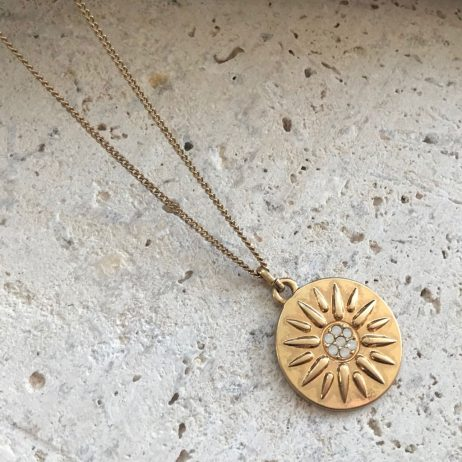 Hultquist Jewellery Sun Ray Gold Necklace 1531G