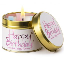 Lily-Flame Happy Birthday Scented Gift Candle Tin