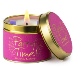 Lily-Flame Party Time Scented Candle Tin