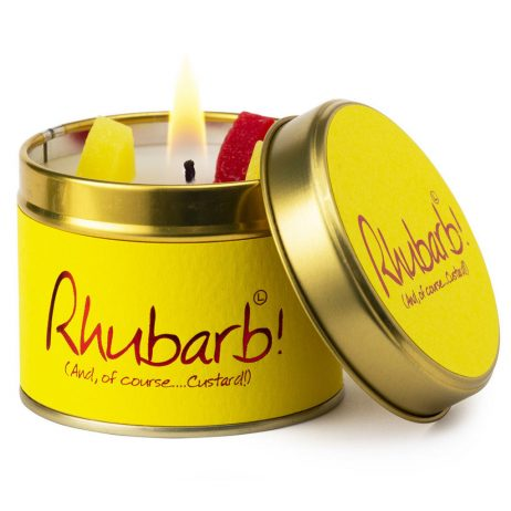 Lily-Flame Rhubarb Scented Candle Tin