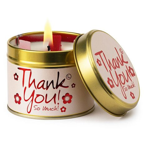 Lily-Flame Thank You Scented Candle Tin