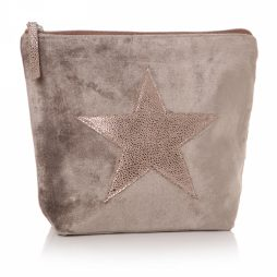 Shruti Designs Ta Da Beige and Copper Star Cosmetic Wash Bag
