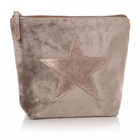 Shruti Designs Ta Da Beige and Copper Star Cosmetic Wash Bag
